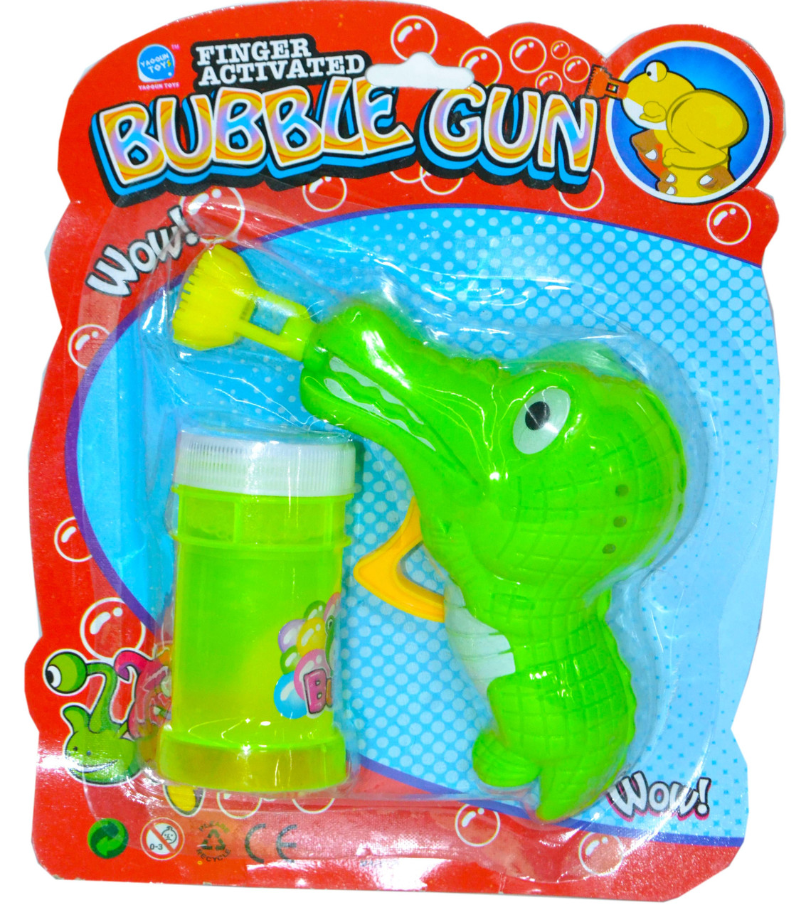 9908 Мыльные пузыри пистолет  крокодил Buble gun   21*18см