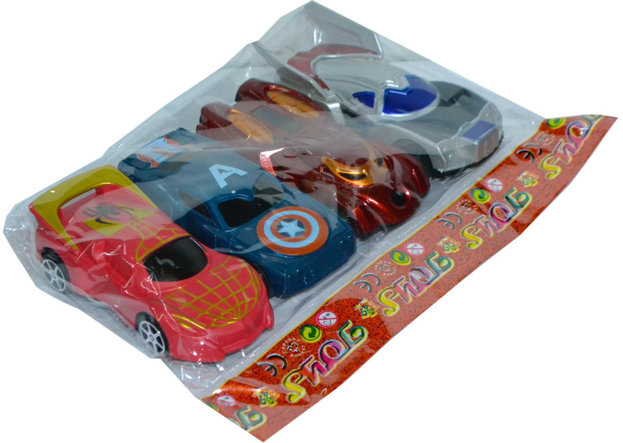 546-115 Мстители машинки  4 в 1 в пакете 19*15см