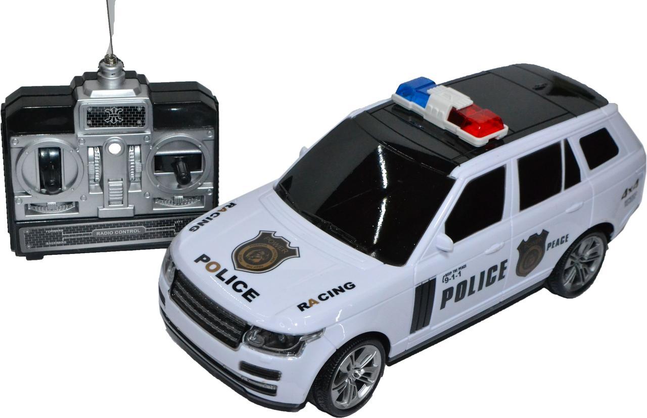 3699-B7 Рендж ровер полиция с мигалкой на р/у 4 функции Police Car  33*12см