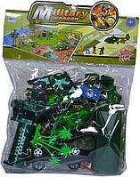 8673  Военная база с техникой и картой Military weapon34*26см
