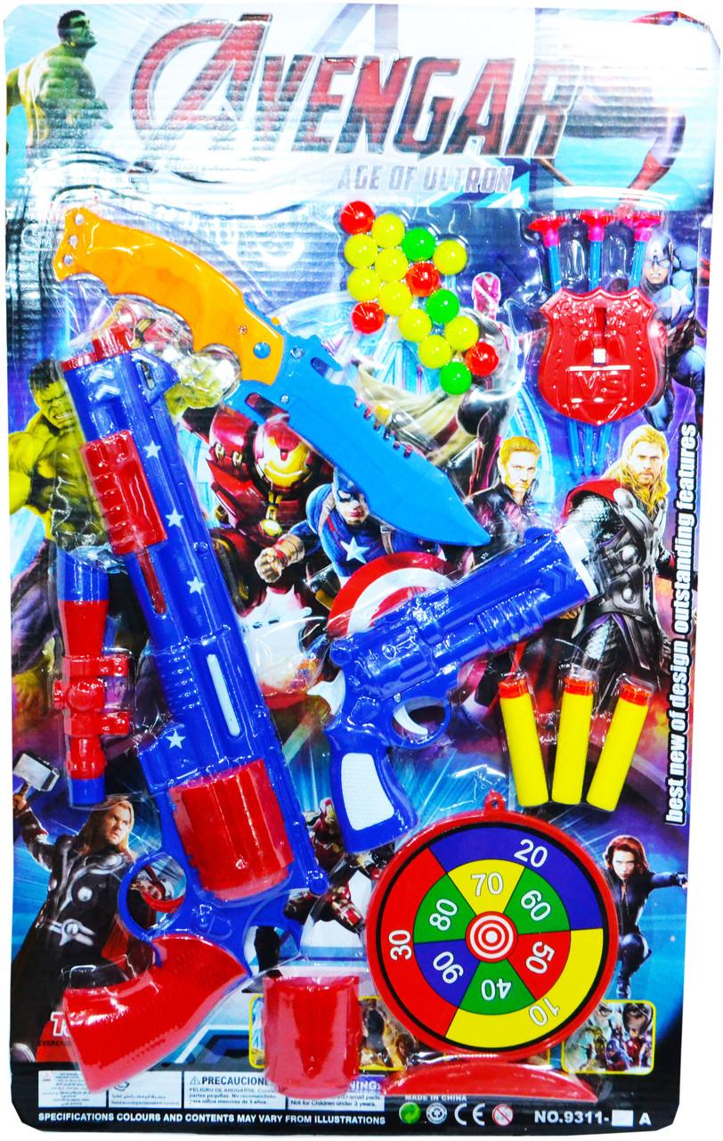 6311-45B Набор для стрельбы в мишень  с ножом Avengers 52*32