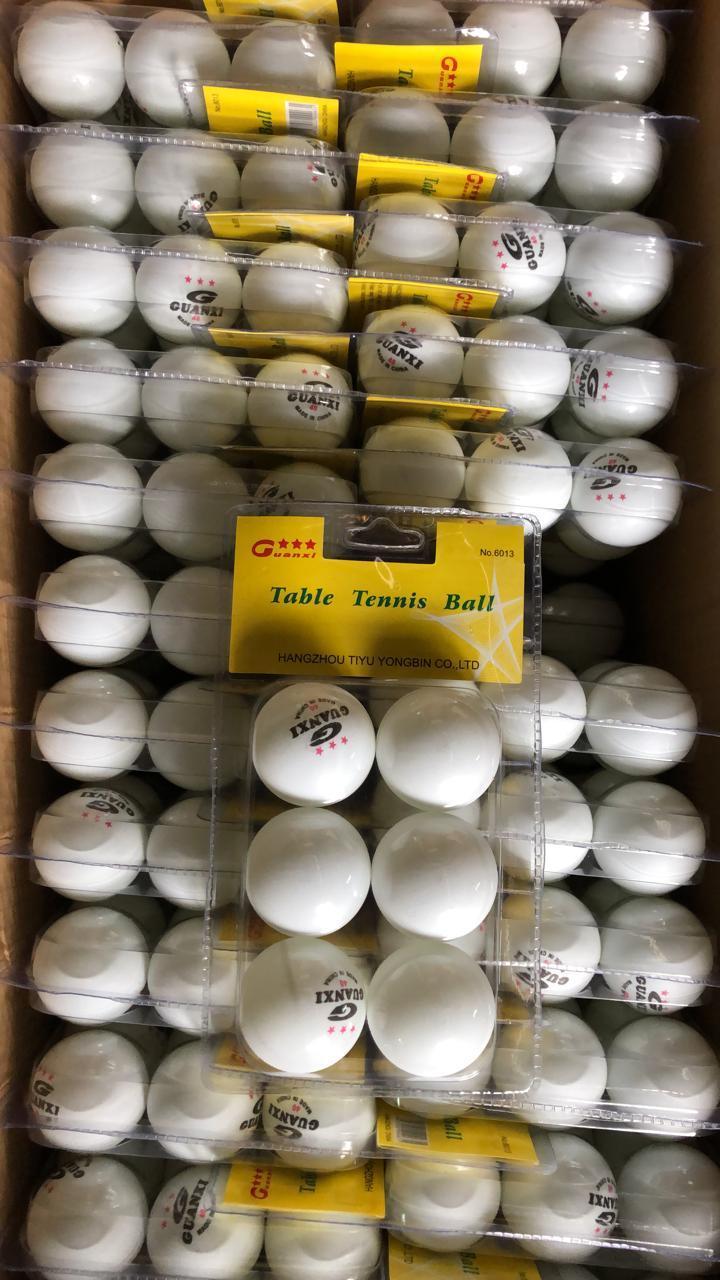 Шарик для настольного тенниса пинг понга в прозрачной упаковке 6шт (качественный)