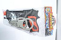 """501-9 Полицейский пистолет с наручниками """"Police"""" 16*14см"""