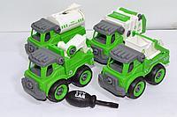 666-47 Спец техника зеленого цвета 4шт набор 25*27см