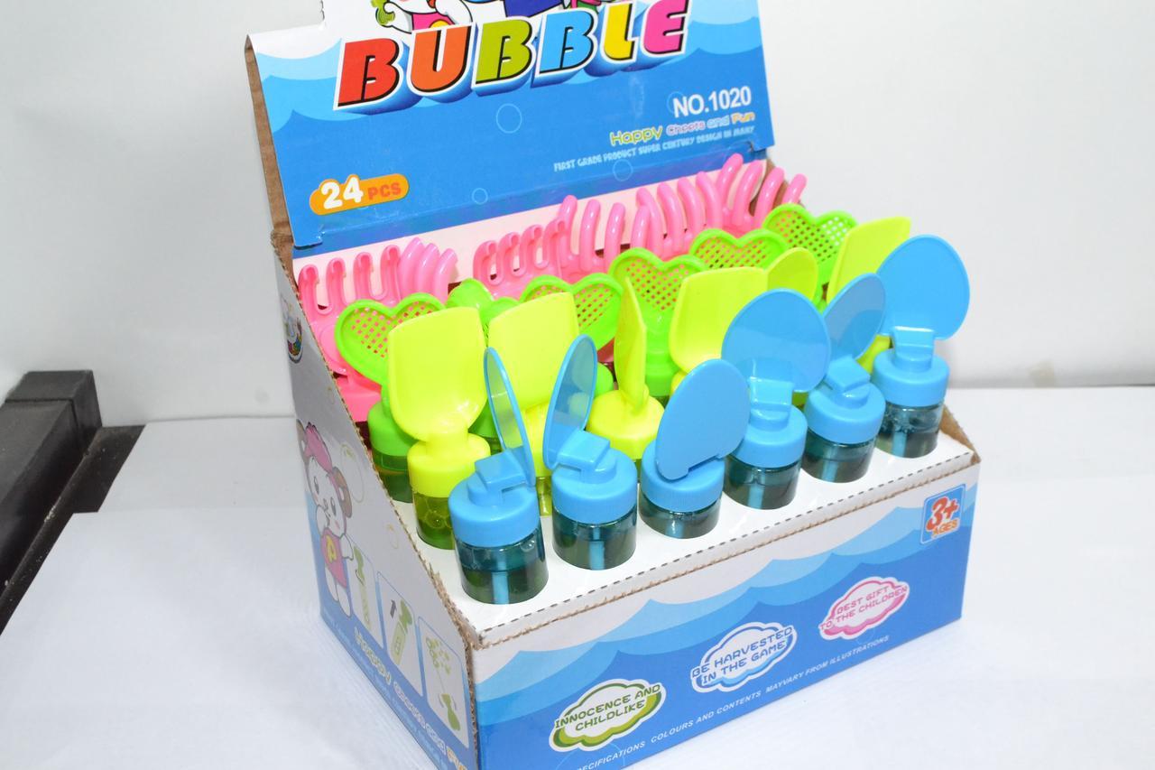 1020 Мыльный пузырь Лопатки и Грабли 24шт цена за уп. 14*2см