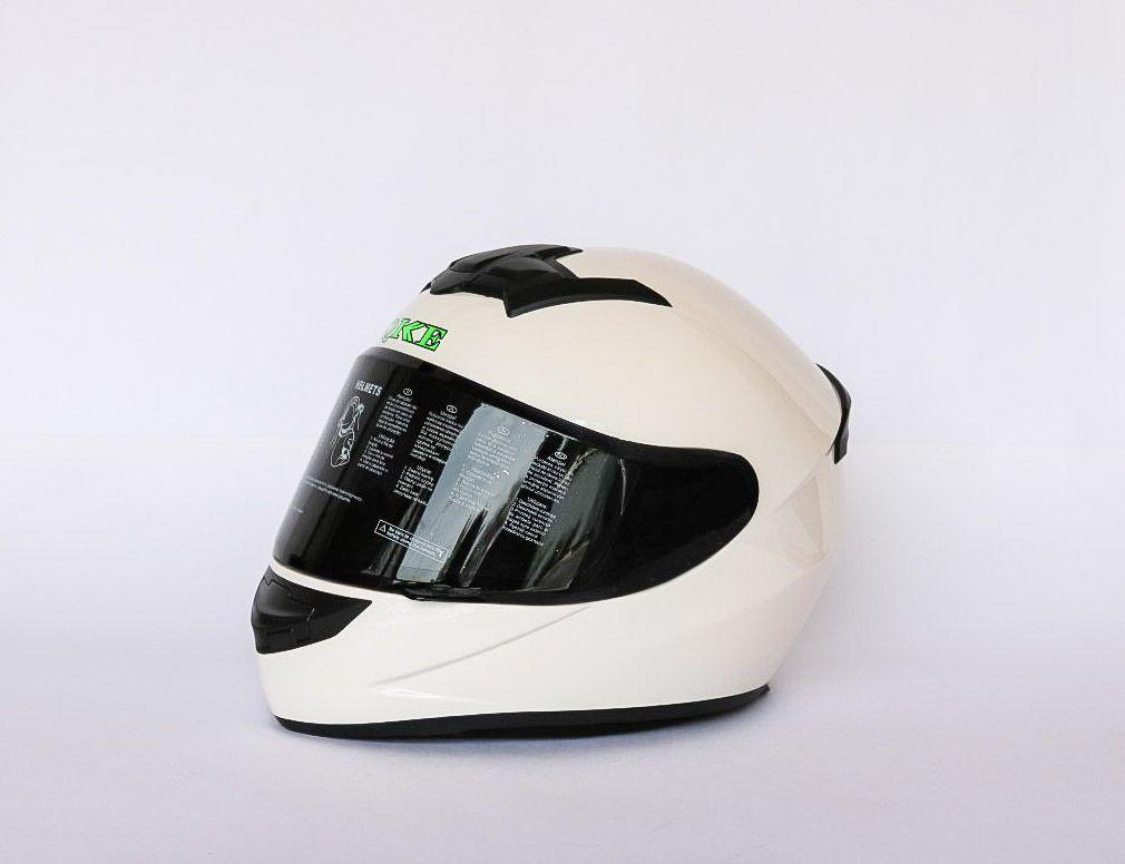 Мотошлем белый