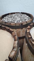 Деревянная декоративная бочка с дефектами и сучками, без отделки, 30 л