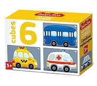 Кубики «Городской транспорт» (6 шт.), фото 1