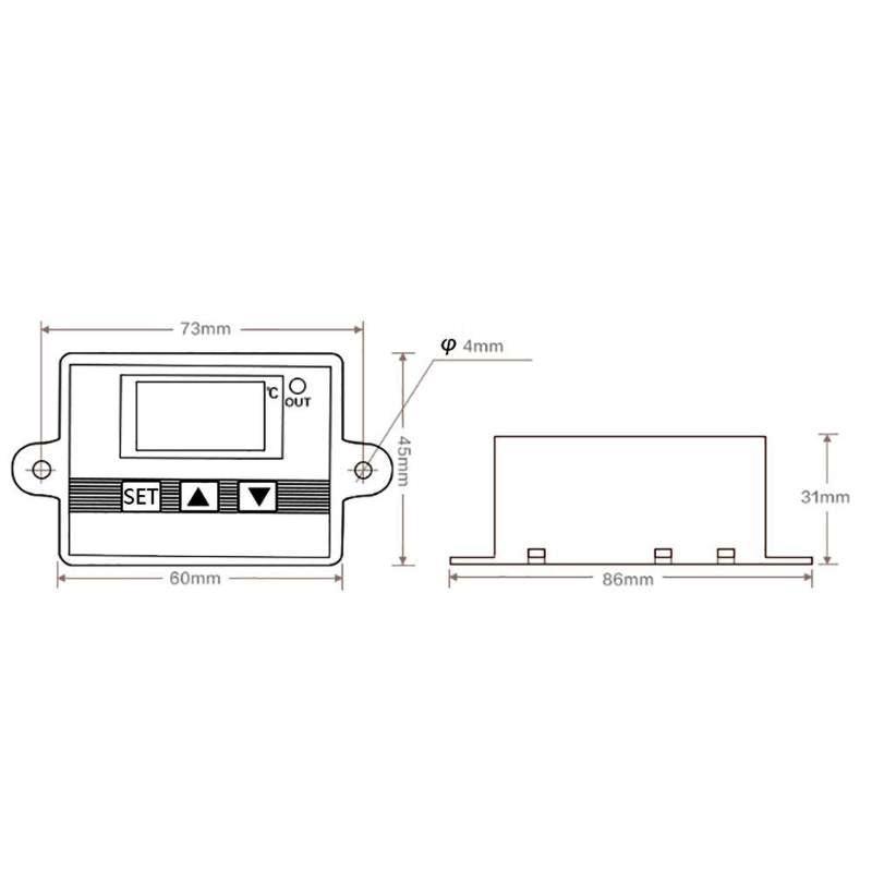 Термостат цифровой регулятор температуры XH-W3002 на 12В для инкубатора - фото 2