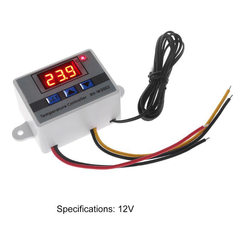 Термостат цифровой регулятор температуры XH-W3002 на 12В для инкубатора - фото 3