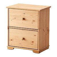 Комод ГУРДАЛЬ с 2 ящиками светло-коричневый ИКЕА, IKEA, фото 1