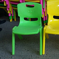 Стул детский пластиковый для детского сада 27см высота зеленый
