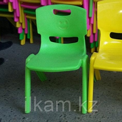 Стул детский пластиковый для детского сада 27см высота зеленый, фото 2