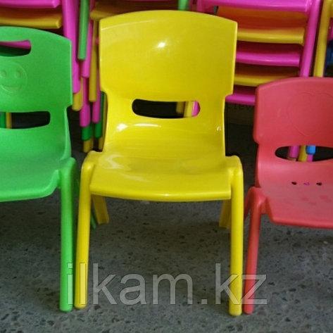 Стул детский пластиковый для детского сада 27см высота  желтый, фото 2