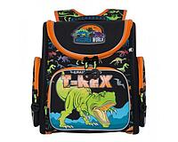 Ранец раскладушка школьный черно-оранжевый