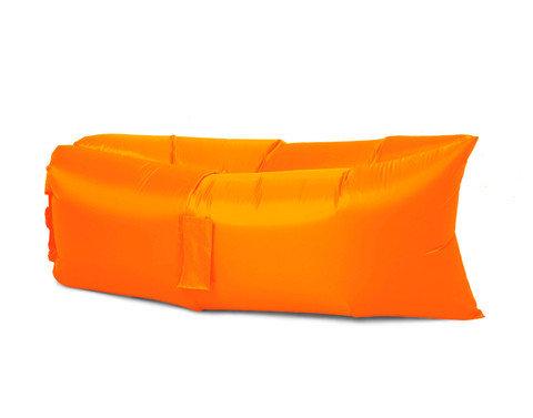 Надувной биван {лежак/шезлонг/гамак} с карманами {Россия} (Оранжевый), фото 2