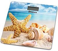 Sakura Весы напольные Sakura SA-5065BH ultraslim 180кг электронные фото пляж