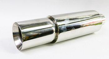 Банка выхлопной трубы хромированная Ф63 мм