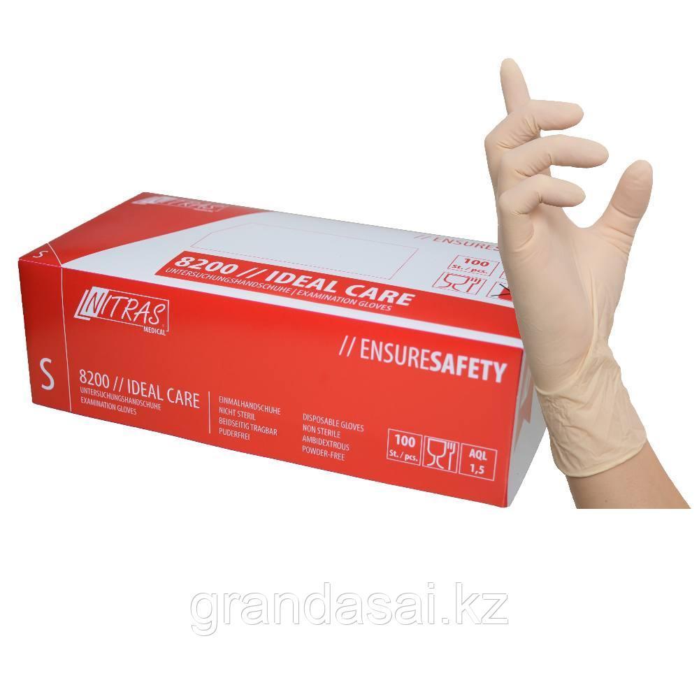 Одноразовые перчатки из латекса, нестерильные, неопудренные