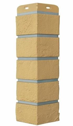 Угол Наружний Горчичный 390 мм Состаренный кирпич Серия Премиум Grand Line