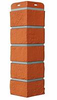 Угол Наружний Коралловый 390 мм Состаренный кирпич Серия Премиум Grand Line