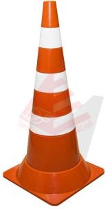 Конус сигнальный  гибкий 750 Конус дорожный  3 полосы ( краска)