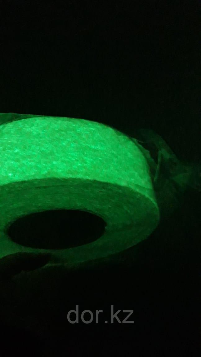 Лента люминесцентная светящаяся клейкая для ограждения опасностей