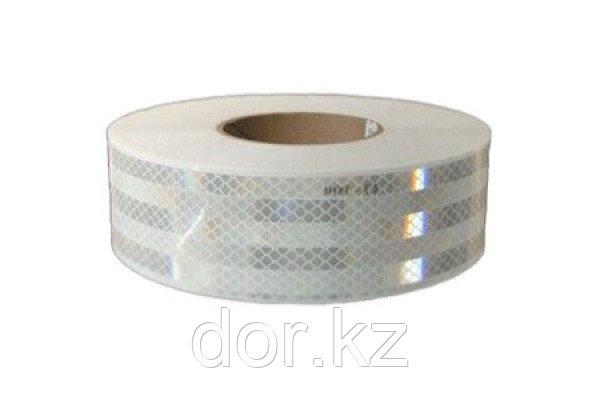 Светоотражающая лента белая для маркировки тентов для ограждения опасностей