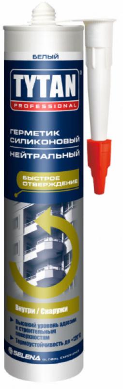 Герметик силиконовый TYTAN Professional 23772 санитарный б/ц 310мл