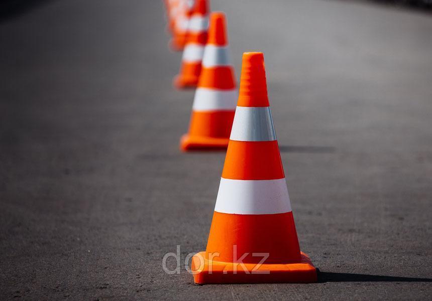 Конус Дорожный резиновый, Конус сигнальный, для дорожных работ +77079960093