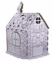 Детский картонный домик раскраска