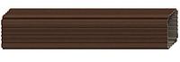 Труба водосточная  76x102x3000 мм Коричневый Металлический прямоугольного сечения  ПЭ Ral 8017