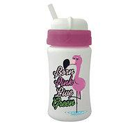 Baby-Nova Чашка прогулочная для питья, с силиконовой соломинкой CUIPO «Фламинго», 340мл