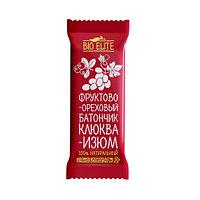 Батончик фруктово-шоколадный BIO elite Клюква-изюм 35г*24шт