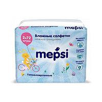 Cалфетки Mepsi влажные, детские, без клапана, 144 шт (2х72)