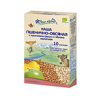 Каша детская Fleur Alpine пшенично-овсяная, с кусочками груши и яблока, молочная, 200 г