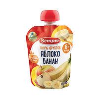 Пюре детское Semper Яблоко и банан, 90 г