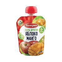 Пюре детское Semper Яблоко и манго, 90 г
