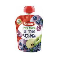 Пюре детское Semper Яблоко и черника, 90 г
