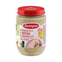 Пюре детское Semper Итальянская паста с Форелью в сливочном соусе, 190 г