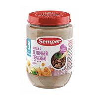 Пюре детское Semper Овощи с телячьей печенью, 190 г