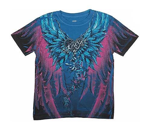 Детская футболка «Ангел» синяя в Алматы