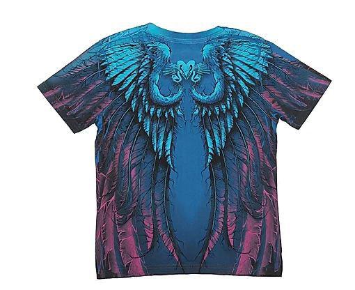 Детская футболка «Ангел» синяя в Алматы, фото 2