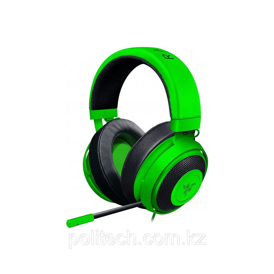 Гарнитура Razer Kraken Pro V2 Oval Green (3,5мм)