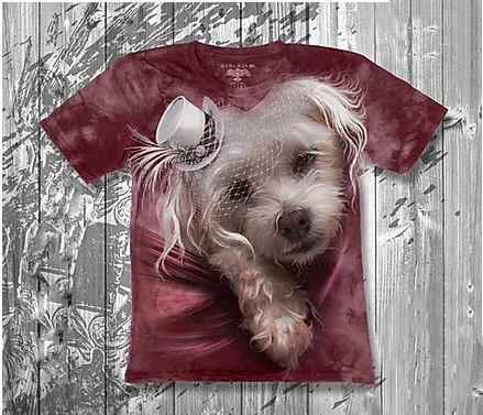 Детская футболка для девочки «Собачка белая» в Алматы, фото 2