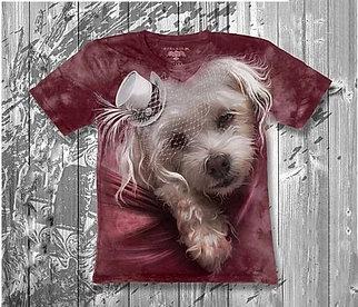 Детская футболка для девочки «Собачка белая» в Алматы