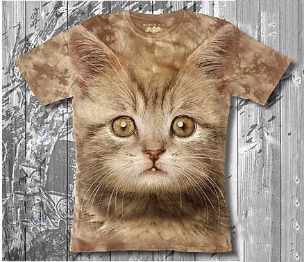 Детская футболка 3d для девочек «Котик рыжик» в Алматы, фото 2