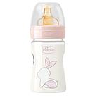 Бутылочка для кормления Chicco Original Touch 150 мл, латекс, роз. 0м+