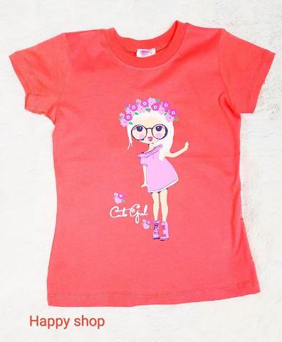 Детская футболка красная с рисунком
