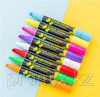 Флуоресцентные маркеры для LED доски, набор 8 шт.  Flashcolor